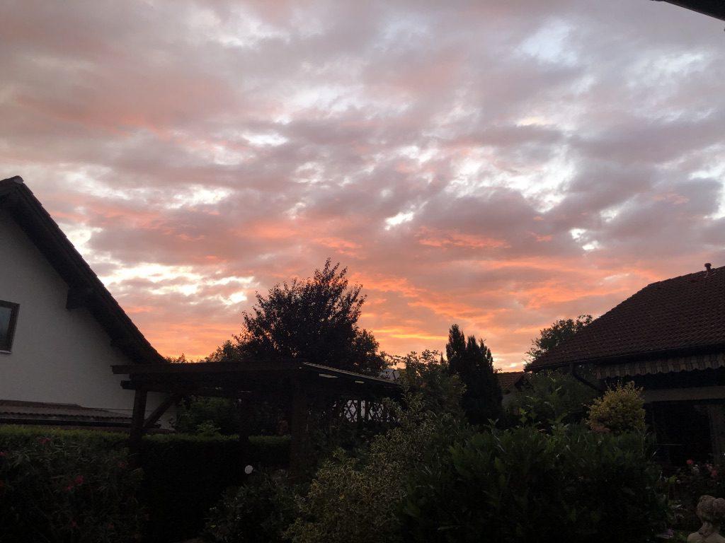 Sonnenuntergang über Utting